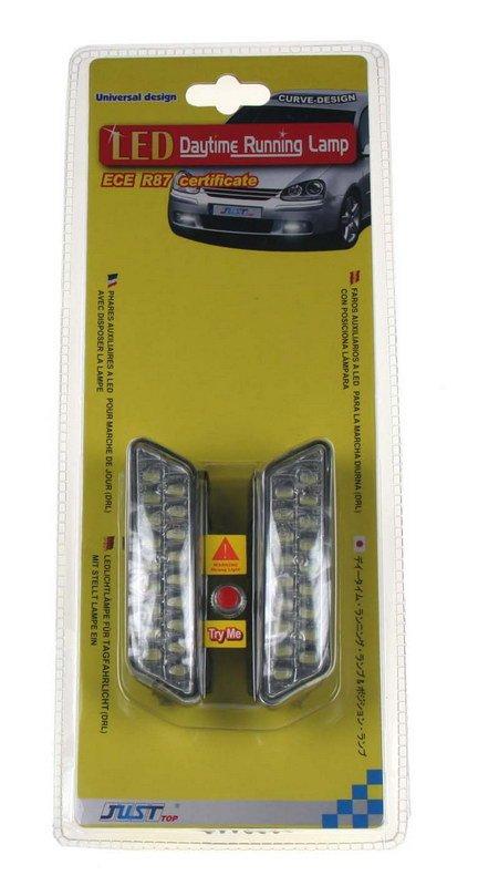 LED světla pro denní svícení, 100x25mm, ECE (drlMINI1810)