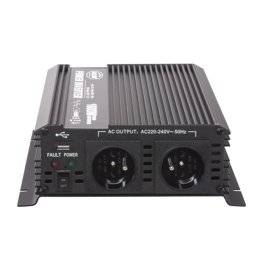 Měnič napětí z 12/230V + USB, 1600W 351612