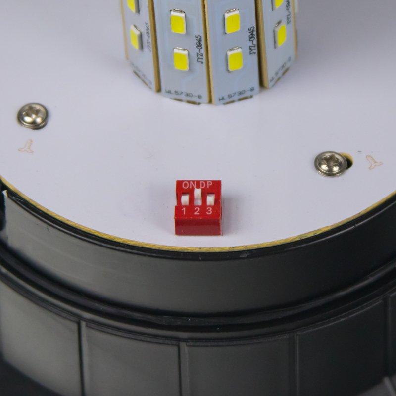 Zábleskový LED maják, 12-24V, modrý magnet, homologace