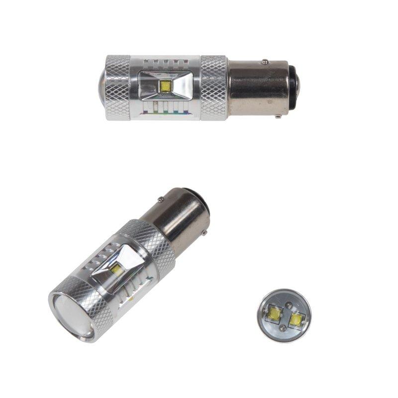 CREE LED BAZ15D 12-24V, 30W (6x5W) bílá 2 ks