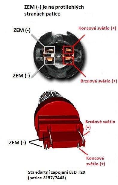 CREE LED T20 (7443) bílá, 12-24V, 30W (6x5W) 2 ks