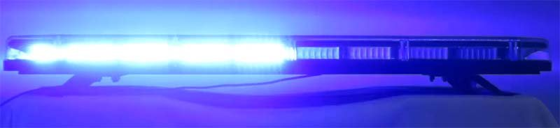 LED rampa 1149mm, modrá, 12-24V, homologace ECE R65