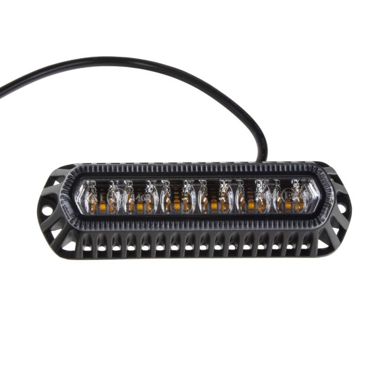 PROFI výstražné LED světlo oranžové vnější, 12-24V, 6 LED, homologace ECE R65