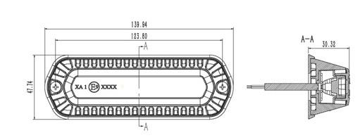 PROFI výstražné LED světlo modré vnější, 12-24V, 6 LED, homologace ECE R65