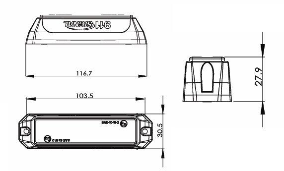 PROFI výstražné LED světlo oranžové vnější, 12-24V, 4 LED, homologace ECE R65
