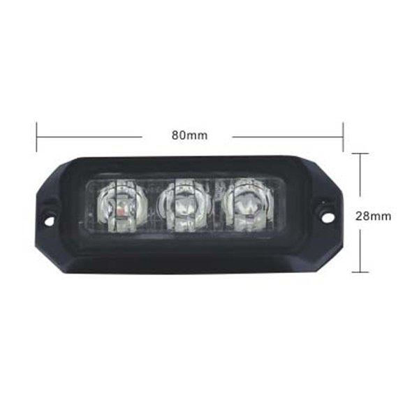 PREDATOR 3x3W LED, 12-24V, oranžový, ECE R10 R65 kf003E3W