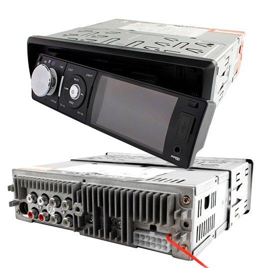 1DIN autorádio s 3 LCD/DVD/CD/USB/SD/AUX, dálkové ovládání AKCE