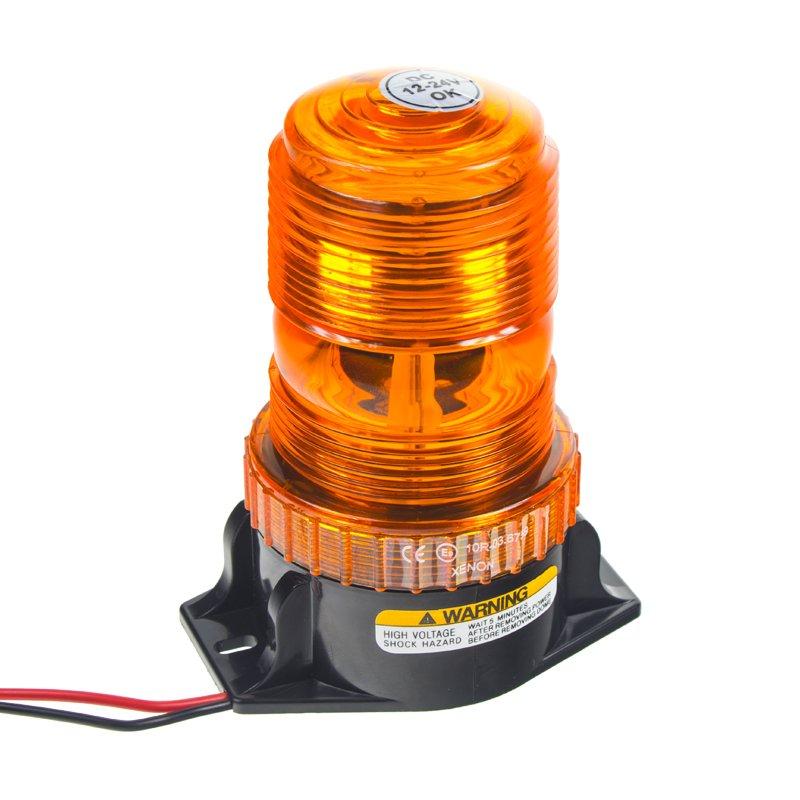 Zábleskový maják 12-24V, oranžový, ECE R10 wl29xen