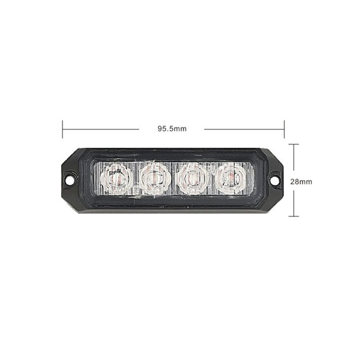 PREDATOR 4x3W LED, 12-24V, modrý, ECE R10 R65 kf004E3Wblu