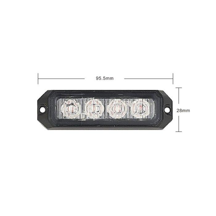 PREDATOR 4x3W LED, 12-24V, oranžový, ECE R10 R65 kf004E3W