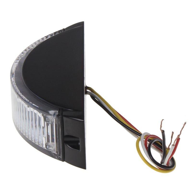 Výstražné LED světlo vnější, oranžové, 12-24V