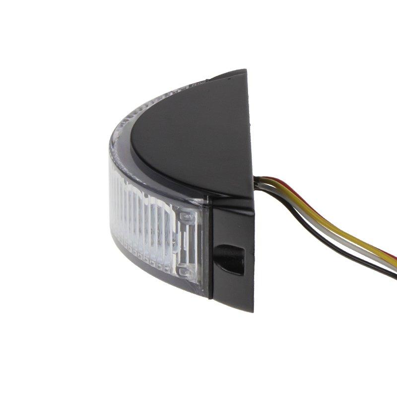 Výstražné LED světlo vnější, modré, 12-24V