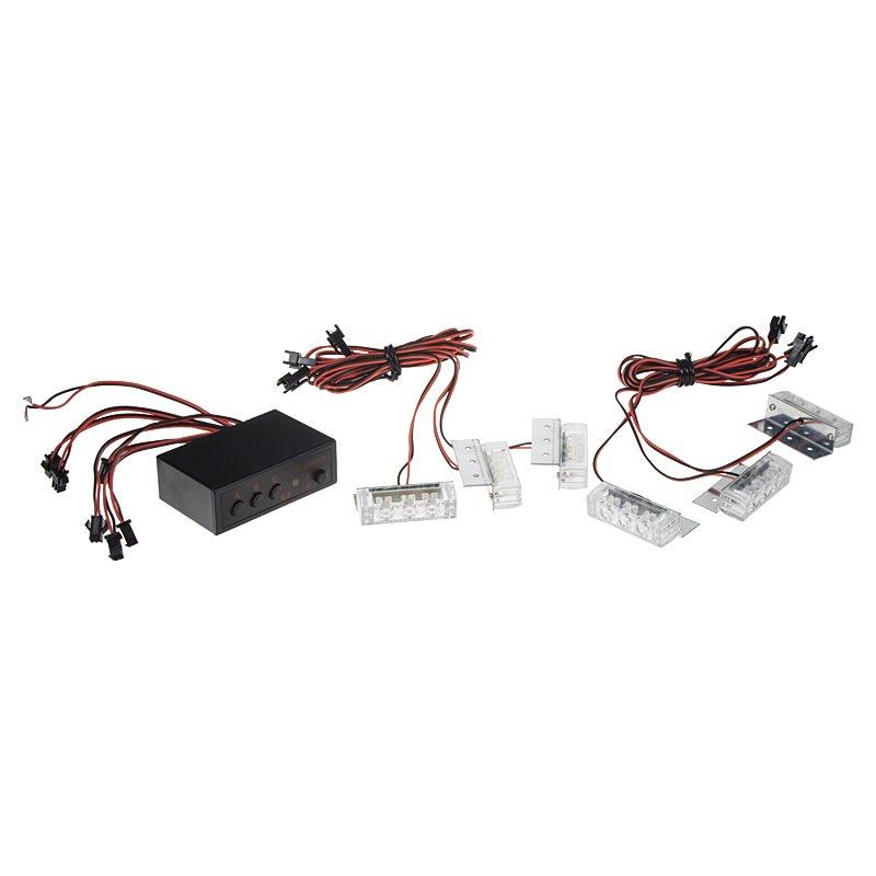 PREDATOR LED do mřížky, 12V, modro-červená kf745-6blre