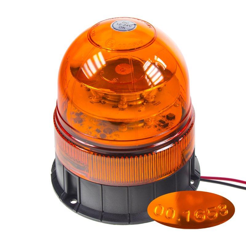 LED maják, 12-24V, 16x3W, oranžový fix, ECE R65 wl84fix