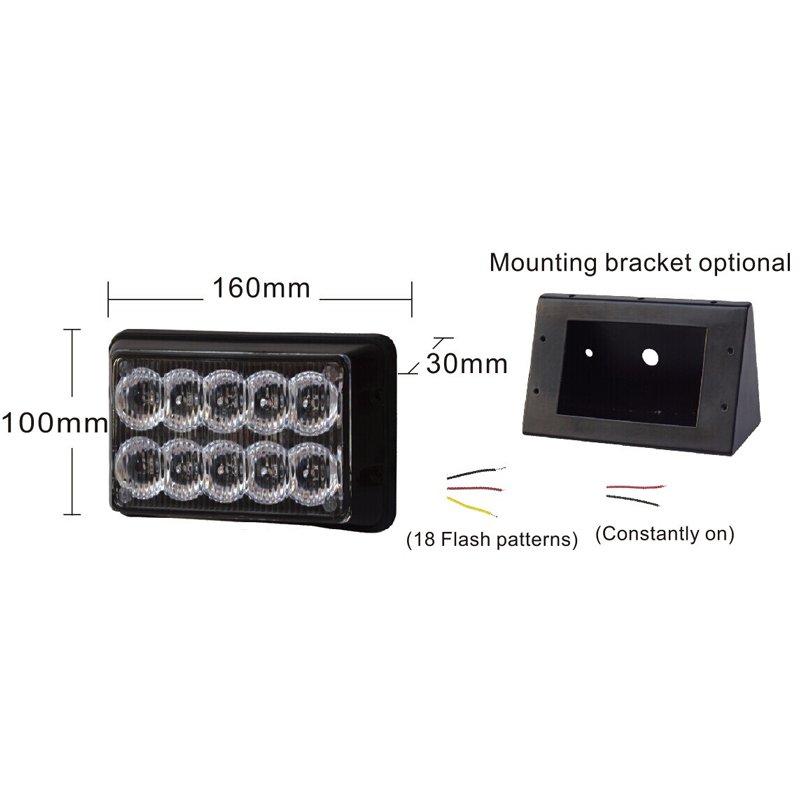 PREDATOR dual 10x1W LED, 12-24V, modrý, CE kf010E1Wblu + DÁREK ZDARMA