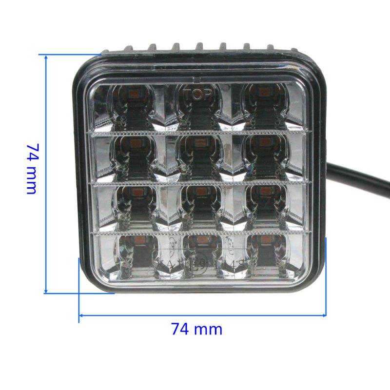 PREDATOR vnější, 10-30V, 12x2W SMD LED, oranžový, 74x74x38mm, ECE R65
