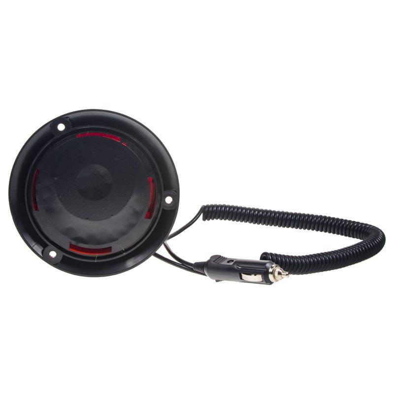 Zábleskový maják, 12-24V, červený magnet, ECE R10 wl19red