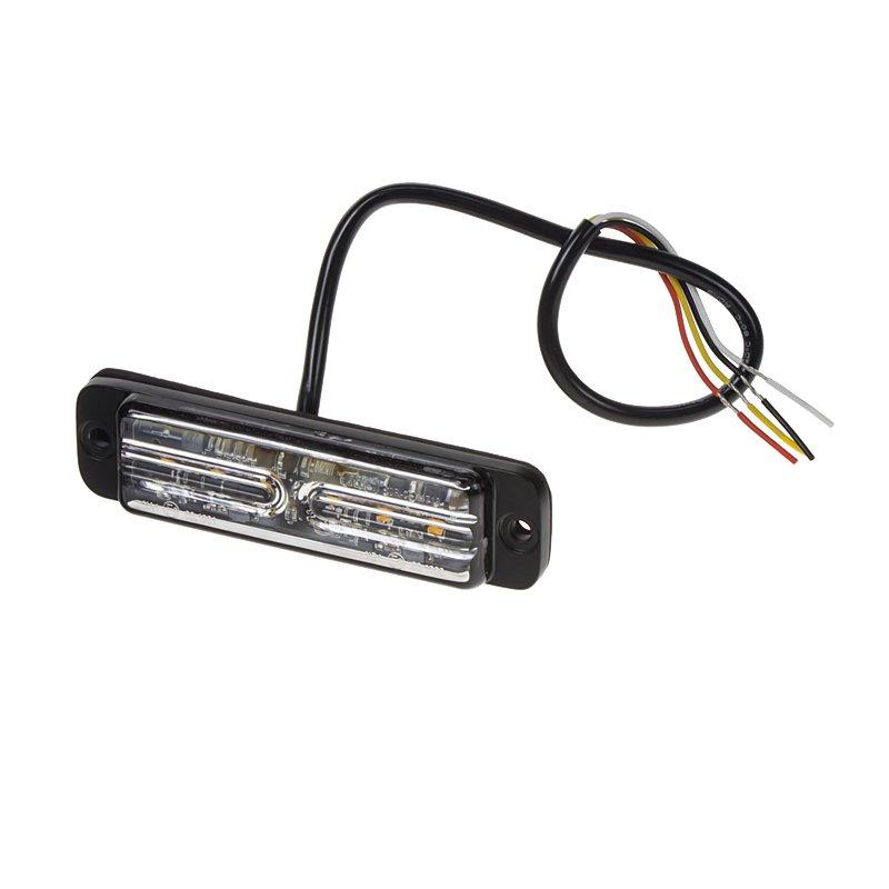 LINEAR LED 6x5W LED, 12-24V, oranžový, ECE R65 kf703