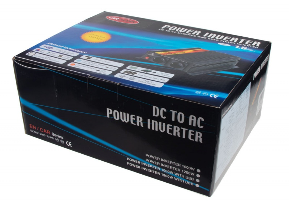 Měnič napětí z 24/230V + USB, 1200W 351224