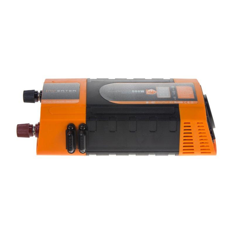 Měnič napětí z 12/220V + USB 600W/displej 35612D