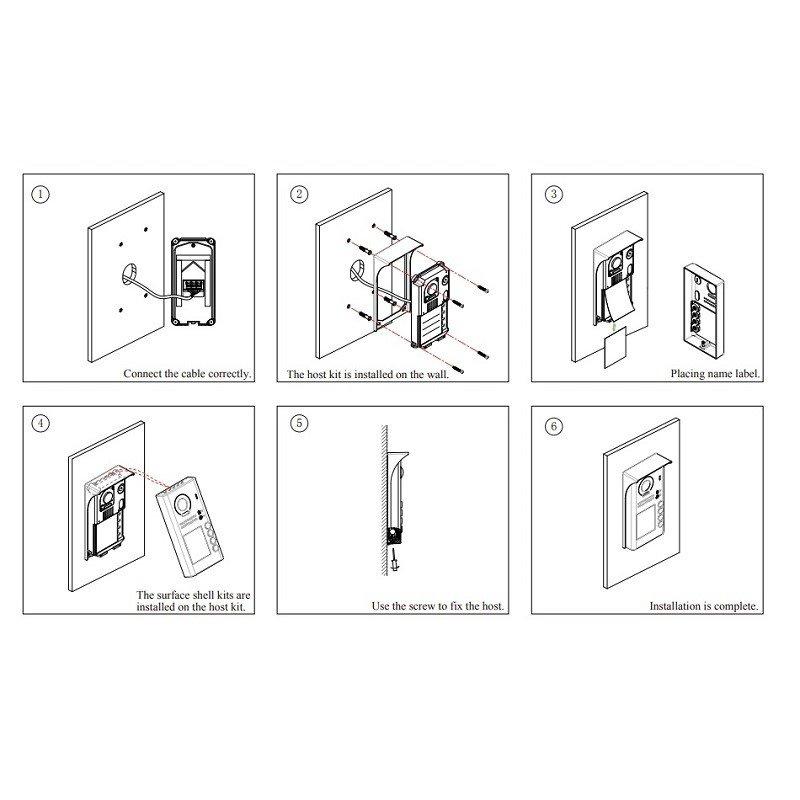 Easydoor DJ 4T ID C dveřní jednotka se 4 tlačítky a RFID