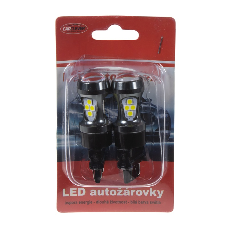 LED T20 (3157) bílá, 12-24V, 16LED/3030SMD 2 ks