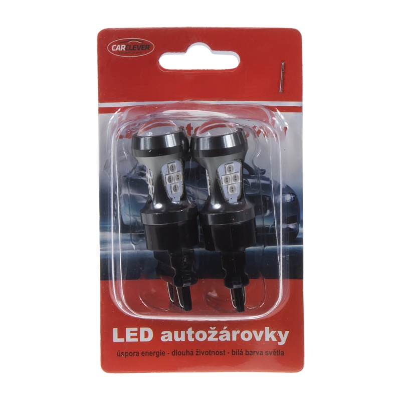 LED T20 (3157) oranžová, 12-24V, 16LED/3030SMD 2 ks