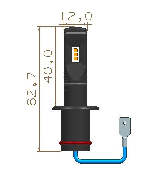 CSP LED H1 bílá, 12-24V, 3x10W, chrom 95CSP-H1-31 (2 ks)