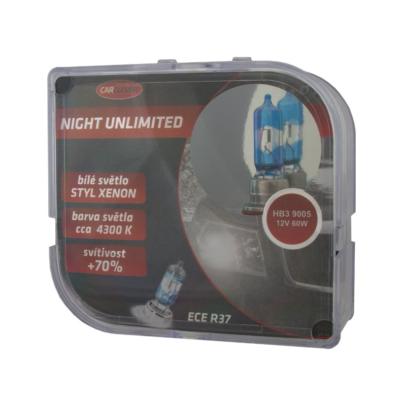 Halogen. žárovka 12V s paticí HB3 (9005), Night unlimited 4300K (2ks) 912HB3NU