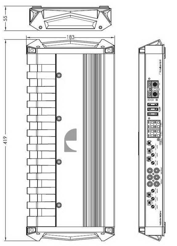 NAKAMICHI zesilovač 4x110W, 2x330W RMS ngxa120.4 NOVINKA