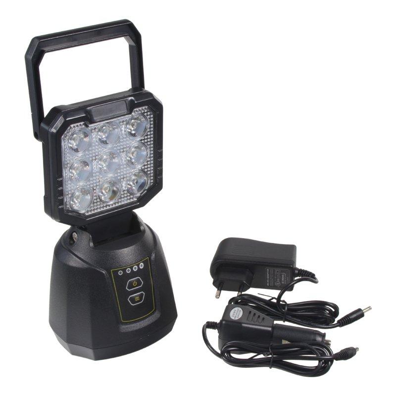 AKU pracovní LED světlo s magnetem 27W, powerbanka wl-li27PB