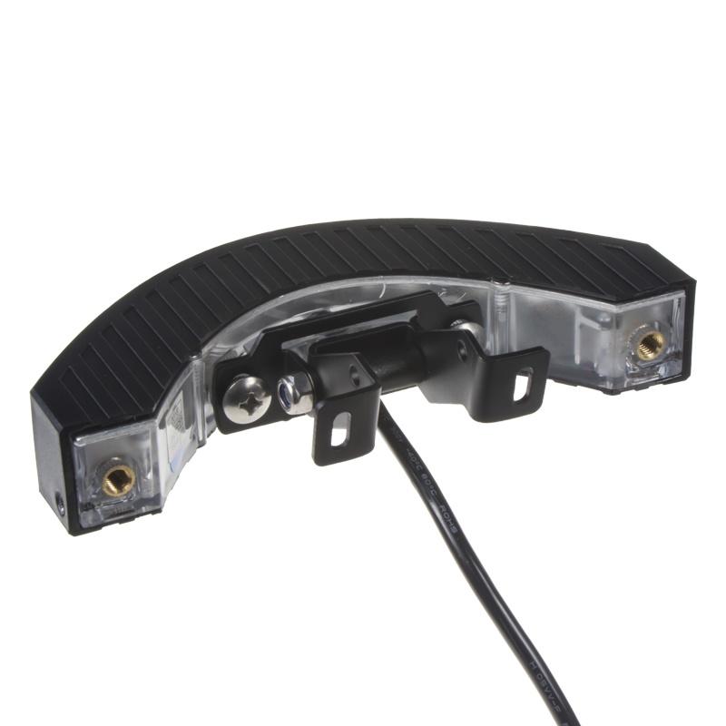 Výstražné LED světlo vnější, 12-24V, 12x3W, oranžové, ECE R65 kf187