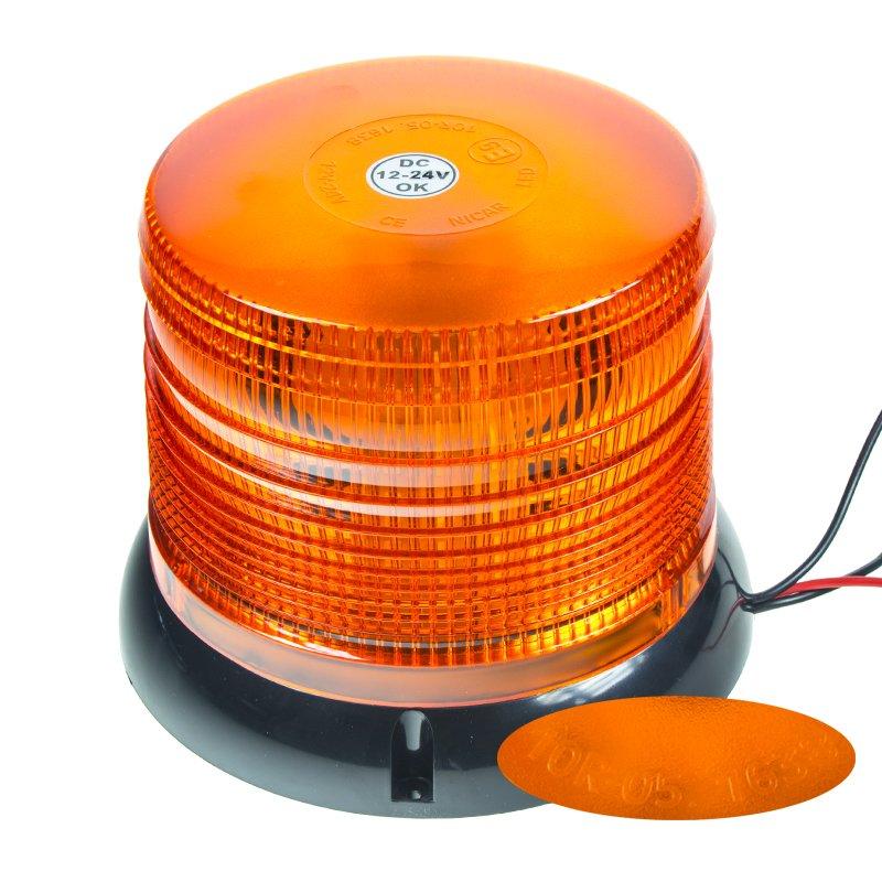 LED maják, 12-24V, oranžový, homologace wl62fix