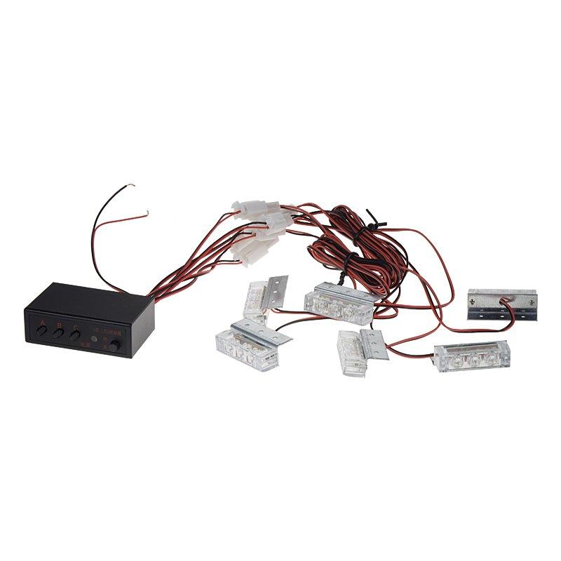 PREDATOR LED do mřížky, 12V, modrý, 6 LED světel kf745-6blue