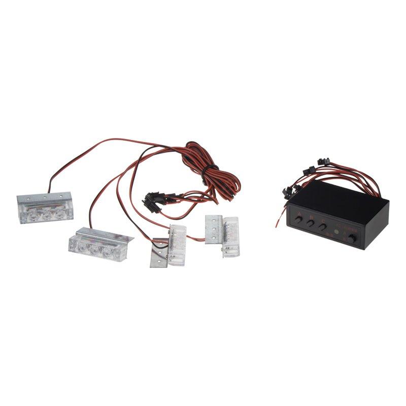 PREDATOR LED do mřížky, 12V, oranžový, 4 LED světla