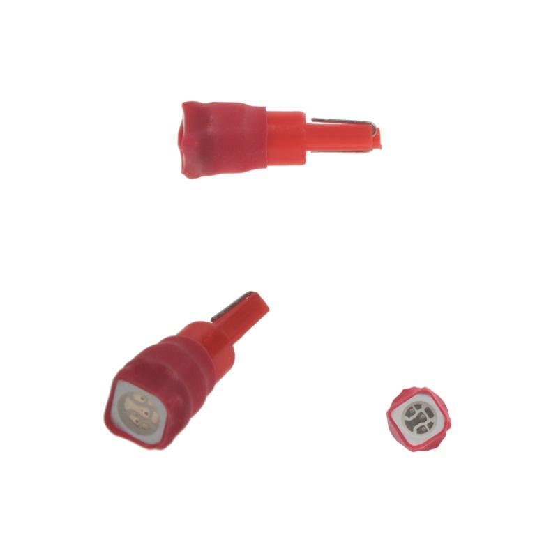 LED T5 červená, 12V, 1LED/3SMD 2 ks